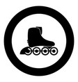 roller skate icon black color in circle vector image vector image