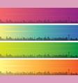 san antonio multiple color gradient skyline banner vector image vector image