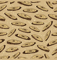 seamless pattern with slices of the root vector image vector image