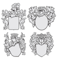 set of aristocratic emblems No1 vector image vector image