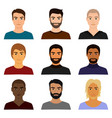 set of male man character vector image vector image