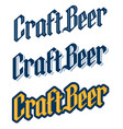 set three traditional black letter craft beer l vector image vector image