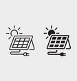 solar panel station icon on white background