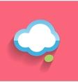 Speech cloud flat modern icon vector image