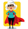 super granny cartoon vector image vector image
