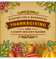Thanksgiving Vintage Card vector image vector image