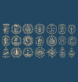 the biggest bundle vintage nautical on the vector image