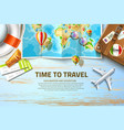 time to travel poster design 3d vector image vector image