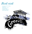 Travel Greece grunge style vector image vector image