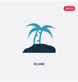 two color island icon from summer concept vector image