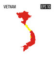 vietnam map border with flag eps10 vector image