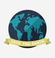 Vintage Earth Day Celebrating Card or Poster vector image