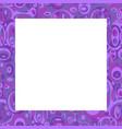 violet frame with ovals vector image