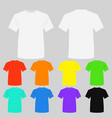 set of templates colored t vector image