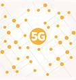 5g internet social media networking technology vector image vector image