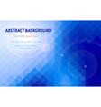 Abstract blue geometric business card background vector image vector image