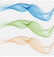 abstract colourful wave element for design gentle vector image