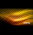 abstract wave on dark background shiny glowing vector image vector image