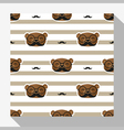 Animal seamless pattern collection with bear 3 vector image vector image