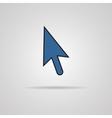 Arrow cursor icon with shadow vector image vector image