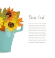 Autumn bouquet in cup with text vector image vector image