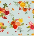 autumn nature seamless pattern floral background vector image vector image