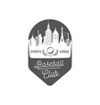 baseball club logotype vector image