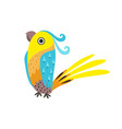 beautiful parrot with colored feathers and wings vector image