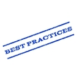 Best Practices Watermark Stamp vector image