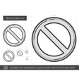 Blocked data line icon vector image
