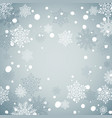 blue christmas background with snowflakesnew year vector image vector image