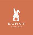 bunny dumpling logo icon vector image