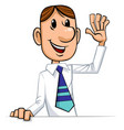businessman welcomes vector image vector image
