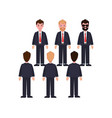 businessmen in classic suits and ties characters vector image vector image