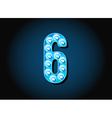 Casino or Broadway Signs style light bulb Digits vector image vector image
