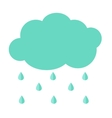 Cloud Flat Icon with Rain Drops Simple vector image