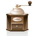 coffee grinder vector image