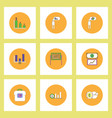 collection of icons in flat style infographics and vector image vector image