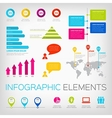 colorful infographics elements vector image vector image