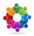 community teamwork people icon vector image vector image