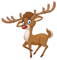 Cute cartoon deer vector image vector image
