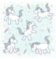 cute magical unicorns vector image