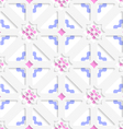 Diagonal flowers layered with blue and pink vector image vector image