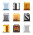 different boxes icons set vector image vector image