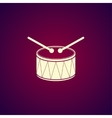 Drum Icon Flat vector image vector image
