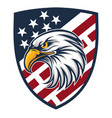 eagle made in usa united states america logo vector image vector image