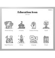 education icons line pack vector image