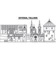 estonia tallinn line skyline vector image vector image