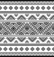 ethnic seamless monochrome pattern vector image vector image