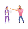 fighting men - young male vector image